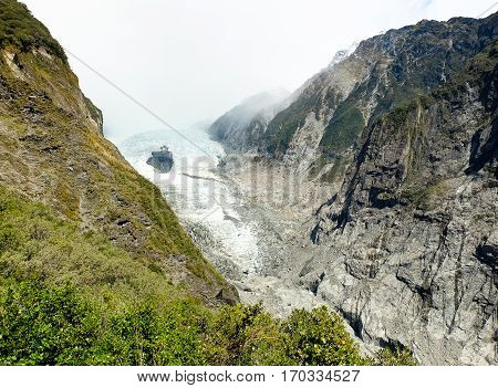 The Franz Josef Glacier.  Westland National Park, New Zealand.