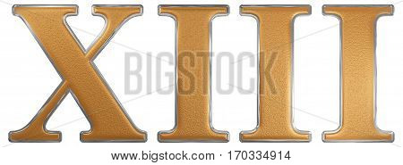 Roman Numeral Xiii, Tredecim, 13, Thirteen, Isolated On White Background, 3D Render