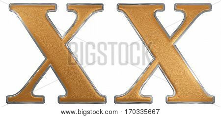 Roman Numeral Xx, Viginti, 20, Twenty, Isolated On White Background, 3D Render