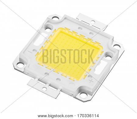 LED powerful close-up, isolated on white