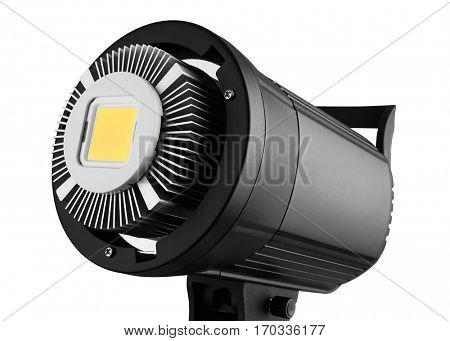 LED light with radiator, isolated on white