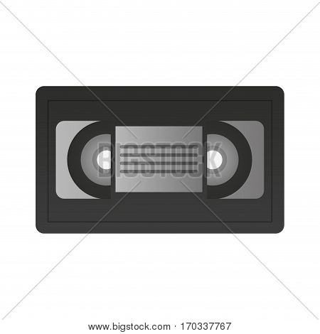 vhs tape icon over white background. colorful design. vector illustration