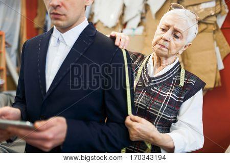 Serious dressmaker