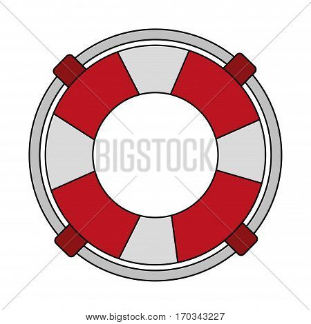 Lifeguard Float icon over white background. vector illustration