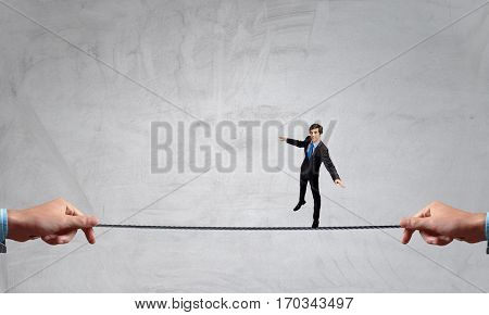 He is risky guy . Mixed media