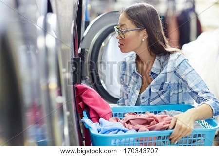Taking clothes out of dryer