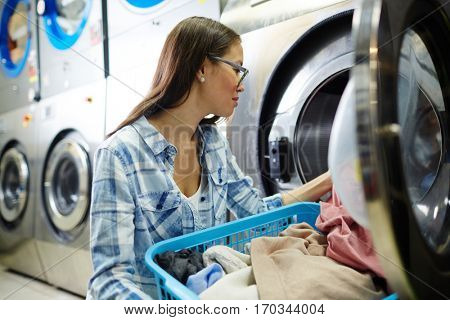 Washing dirty clothes
