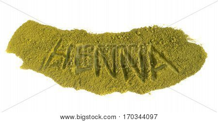 Natural Dry Henna Powder Isolated