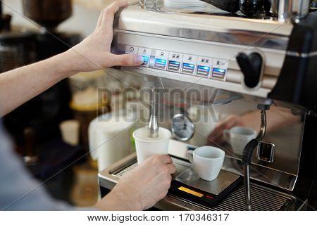 Pushing button of coffee-machine