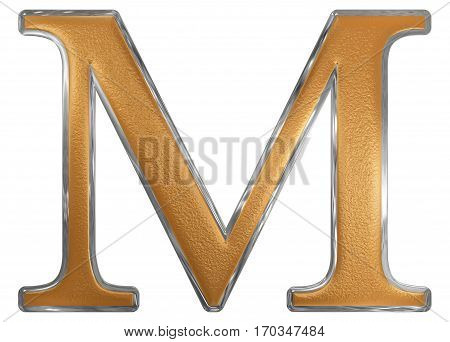 Roman Numeral M, Mille, 1000, One Thousand, Isolated On White Background, 3D Render