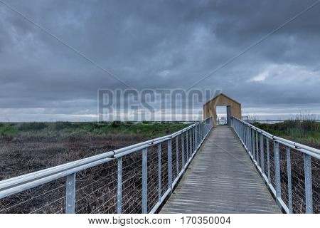 Gate To Nature. Alviso Marina County Park, Santa Clara County, California, USA.