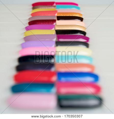 A lot of colourful paints a palette