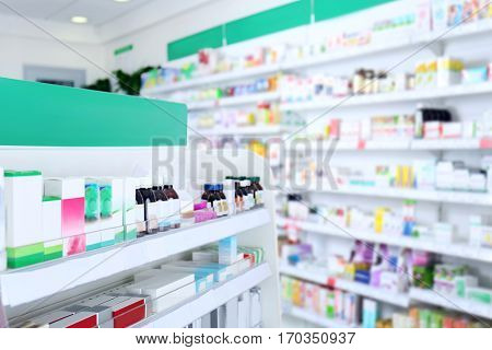 Various products on shelves at store
