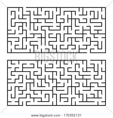 Vector labyrinths 87. Maze / Labyrinth with entry and exit.