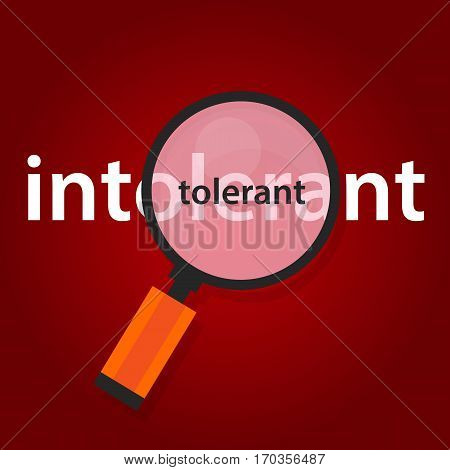 tolerant intolerant concept of tolerance in multicultularism vector