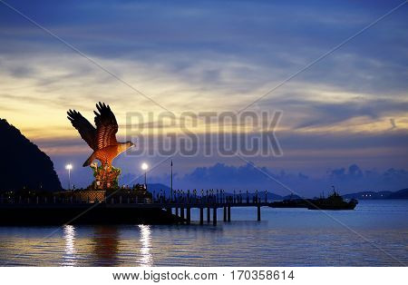 Eagle symbol in Kuah town, Langkawi, Malaysia, Asia