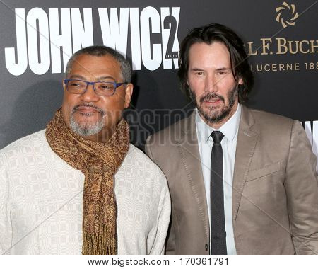 LOS ANGELES - JAN 30:  Laurence Fishburne, Keanu Reeves at the