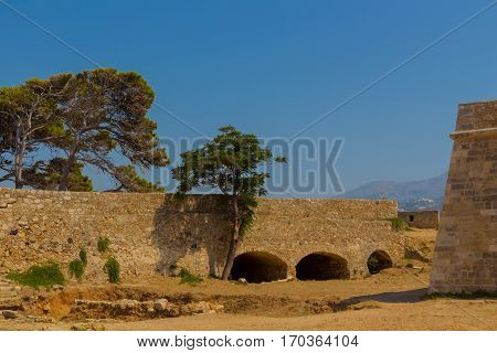 Western Gate Of Fortezza In Rethymno.