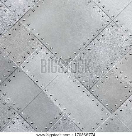 Metal plates rotated 45 degrees background or texture