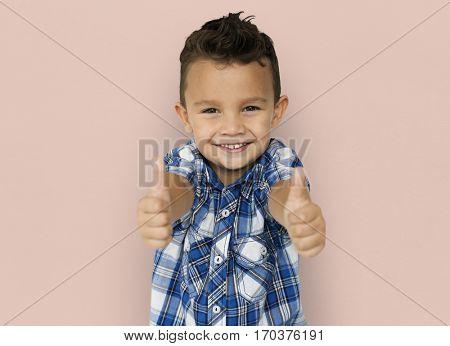 Little Boy Thumb Up Concept
