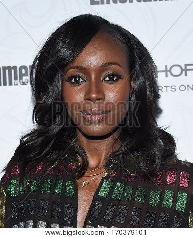 LOS ANGELES - JAN 28:  Anna Diop Anna Diop arrives to the Entertainment Weekly Pre Sag Awards Celebration on January 28, 2017 in Hollywood, CA