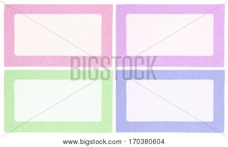 Decorative textile cloth labels blank tags