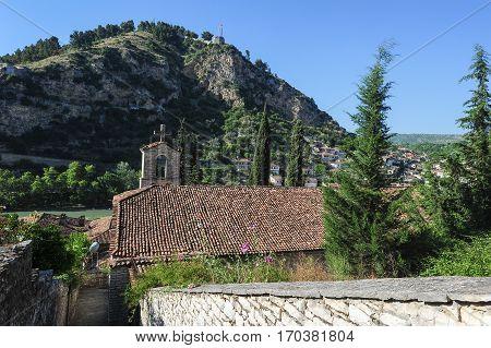 Berat, Albania - 27 June 2013: The church of St. Spiridione at Berat on Albania
