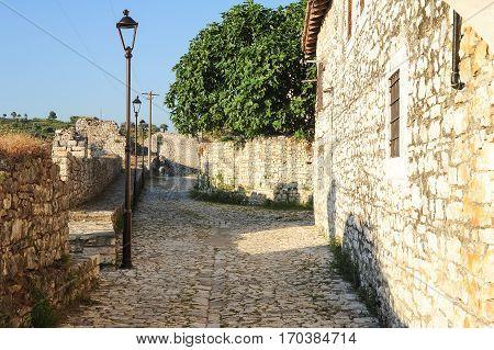 The citadel and fortress of Kala at Berat on Albania