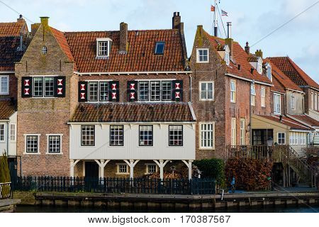 Historic City Of Enkhuizen In Netherlands