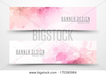 Abstract watercolor banner/ template design for businnes.