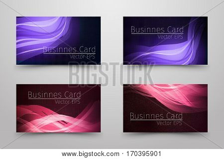 Businnes Card With Abstract Design.