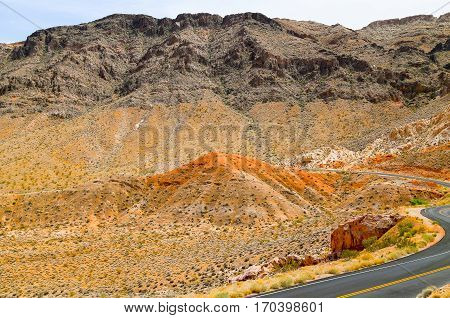 Way into the Valley of Fire State Park, Nevada, USA