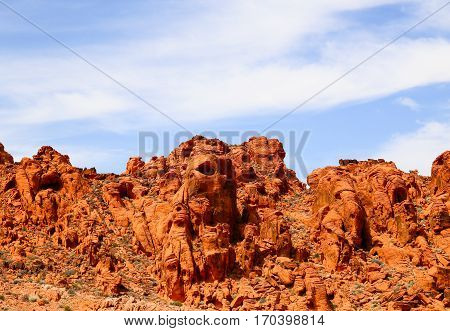 Orange Faces in the Valley of Fire State Park, Nevada, USA