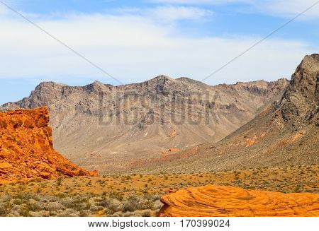 Mountains in the Valley of Fire State Park, Nevada, USA