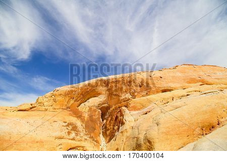 Walk between the White Domes in the Valley of Fire State Park in Nevada, USA