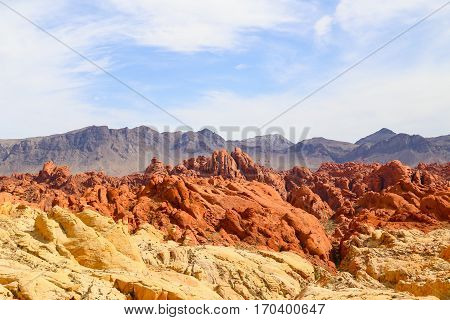 The Fire Canyon in the Valley of Fire State Park in Nevada, USA