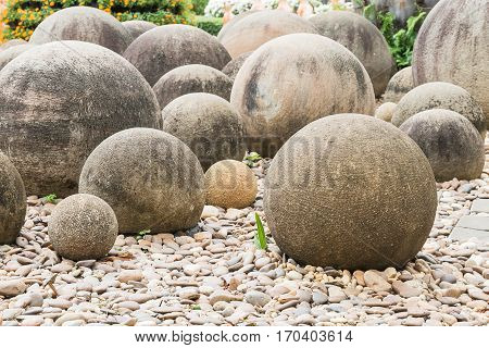 Stone In A Japanese Garden