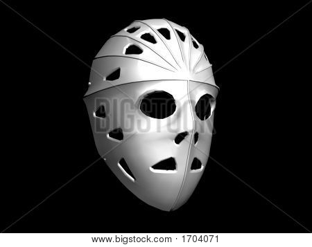 Hockey Goalkeepers Mask - Digital Illustration