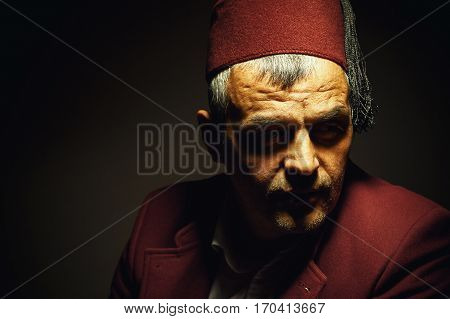 Portrait Of A Man From Macedonia Or Bosnia