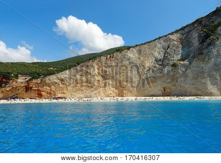 Greece lefkada porto katsiki beach summer landscape