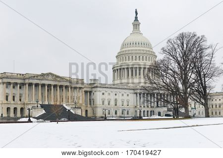 Washington DC in Winter - The United States Capitol