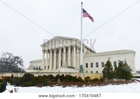 Washington DC in winter - The Supreme Court of the United States