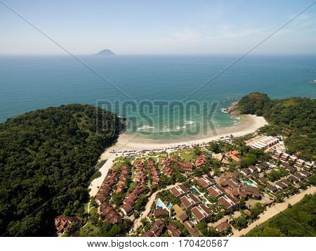Aerial View of Engenho Beach, Sao Paulo, Brazil