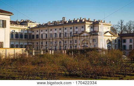 Facade Of Villa Reale Of Monza, Italy