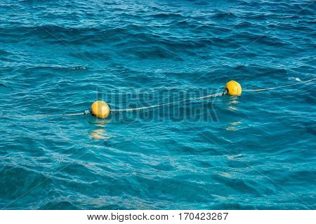 buoys in the Red sea at Egypt