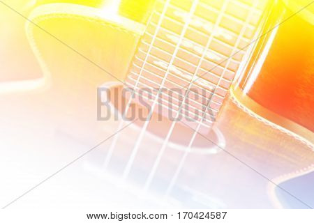 Part of traditional acoustic guitar,extremely shallow dof.