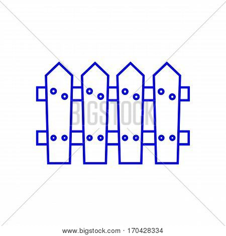 simple thin line wooden fence icon vector