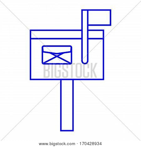 a simple thin line mailbox icon vector