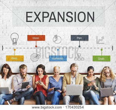 Expansion Way Success Implementation Business Venture poster