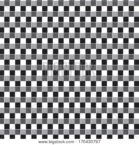 black white and silver shade squares pattern on white background vector illustration image